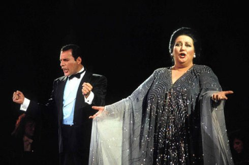 Montserrat Caballe and Freddy Mercury